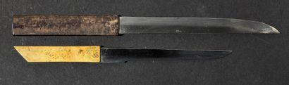 Koto wakizashi Epoque MUROMACHI (1333 - 1573) Signé (mei) : Munechika Lame (sugata)...
