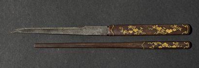 Koto tanto Epoque MUROMACHI (1333 - 1573) Signé (mei) : de façon illisible Lame...
