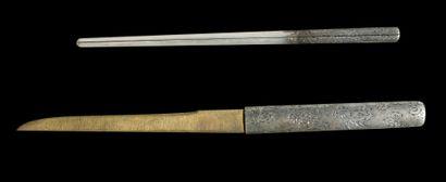 Shinto tanto Epoque EDO (1603 - 1868) Signé (mei) : Inaba (no) Kami Fujiwara Kanetoki...