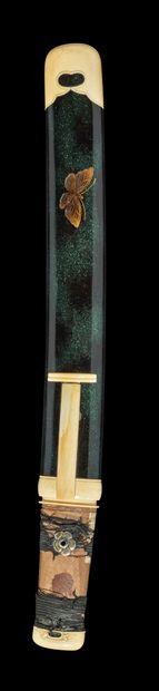 * Shinto tanto Epoque EDO (1603 - 1868) Non démonté Lame (sugata) : hira zukuri,...
