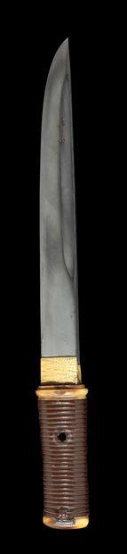 Shinto tanto Epoque EDO (1603 - 1868) Non démonté Lame (sugata) : unokubi zukuri,...