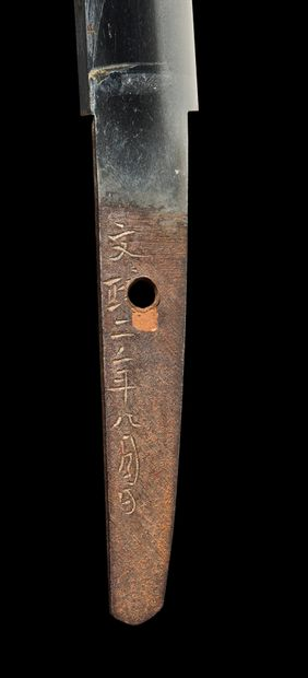 Shinto tanto Epoque EDO (1603 - 1868), XIXe siècle Signé (mei) : Bunsei ninnen hachigatsu...
