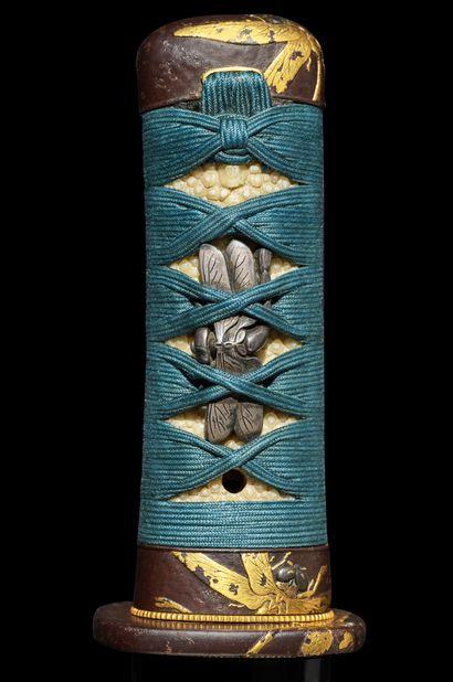 Koto tanto Epoque MUROMACHI (1333 - 1573) Signé (mei) : Kanekishi Lame (sugata)...