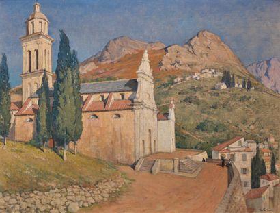 Henri Alexandre SOLLIER (1886-1966)  Eglise...