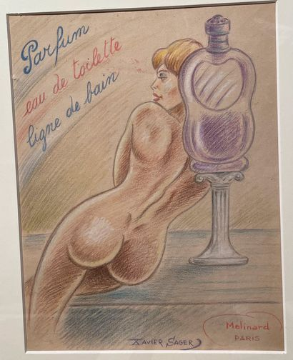 [EROTICA]  Xavier SAGER (1881-1969)  Parfum...