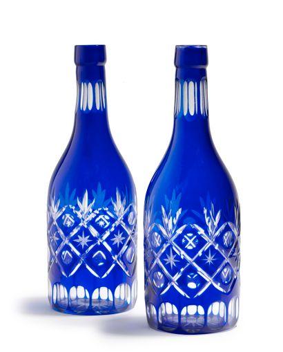 JAPON - XXe siècle  Paire de bouteilles en...