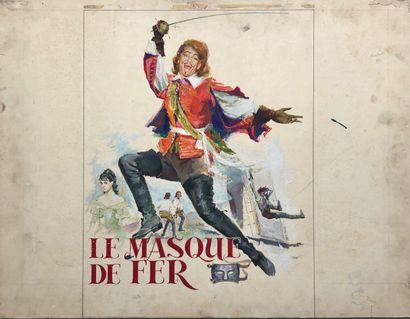 Le masque de fer  Maquette  Gouache signée...