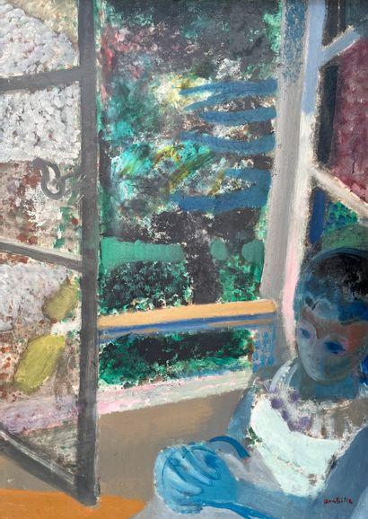 Paul AMBILLE (1930-2010)  Fenêtre à Clermont...