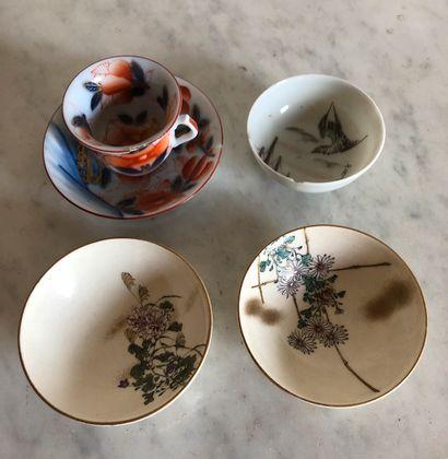 Lot de porcelaines japonaises miniatures...