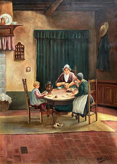 O LECLERCQ (actif à la fin du XIXe siècle)...