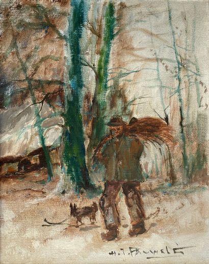 Henri Joseph PAUWELS (1903-1983)  Bûcheron...
