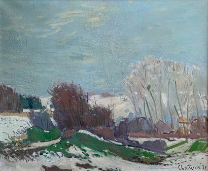 CHANTEREAU (XXe siècle)  Vue sur la plaine,...