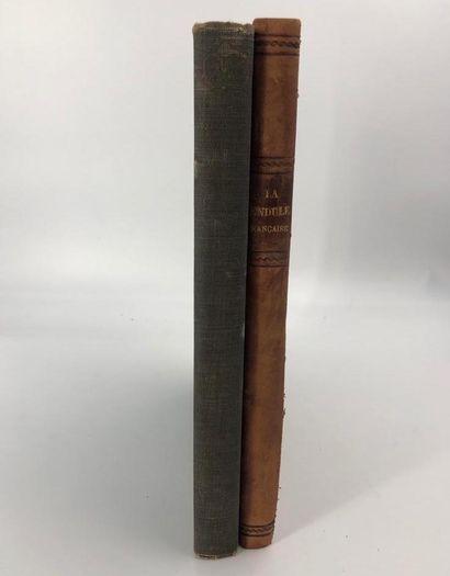 Lot de deux livres :  -La pendule française...