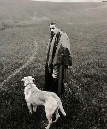 Luc ROUX  Portrait de Philippe Noiret et...