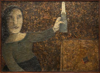 Jean-Claude QUILICI (né en 1941)  Femme  Huile...