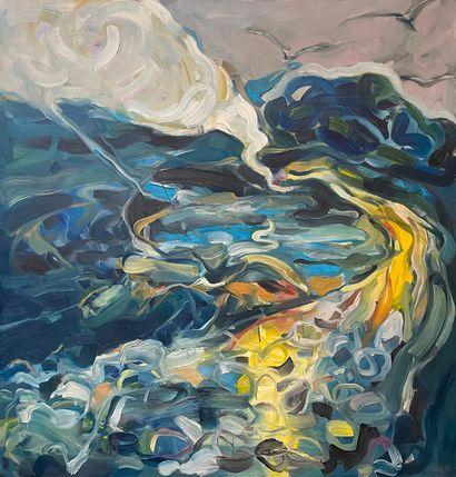 BUBA  Abstraction, 1987  Huile sur toile,...