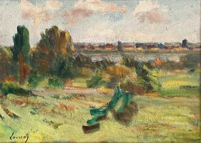 Abel LAUVRAY (1870-1950)  Panorama Vétheuillois...