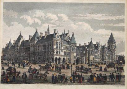 Estampe représentant l'Hôtel de Ville de...