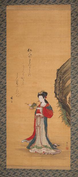 JAPON - Epoque EDO (1603 - 1868)  Encre et...