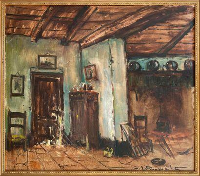 Henri Joseph PAUWELS (1903-1983)  Vue d'intérieur...