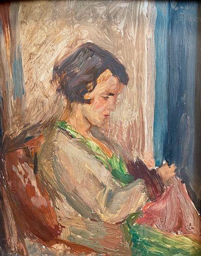 Oswald PETERSEN (1903-1992)  Jeune femme...