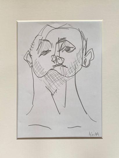 BRIBA Pascal  Sans titre  Crayon noir sur...
