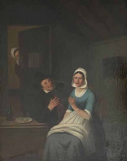 Charles VENNEMAN (1802-1875)  Couple à la...