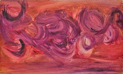 René DUVILLIER (1919-2002)  Composition  Huile...