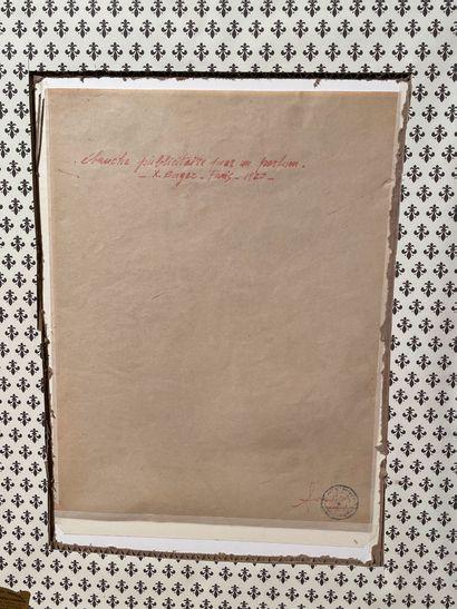[EROTICA]  Xavier SAGER (1881-1969)  Parfum de la toilette  Crayons sur papier  Ebauche...