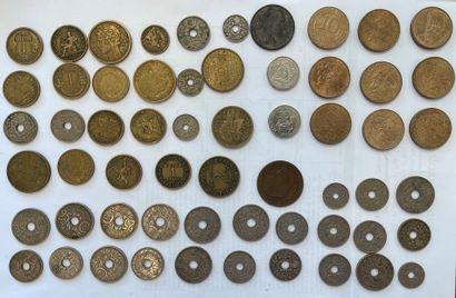 Lot de monnaies anciennes dont Napoléon ...