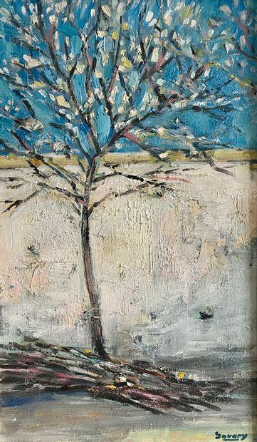 Robert Savary (1920-2000)Arbre au printempsHuile...