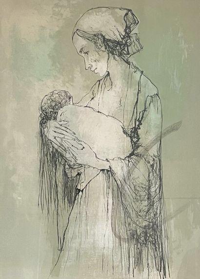 D'après Jean JANSEM (1920-2013)Maternité...