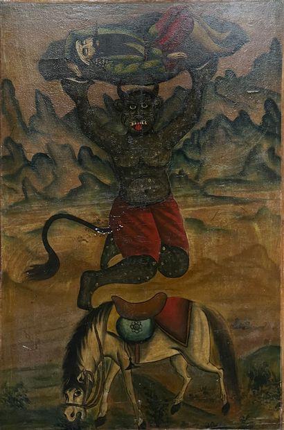 Scène au diable  Iran (?)  126 x 85 cm