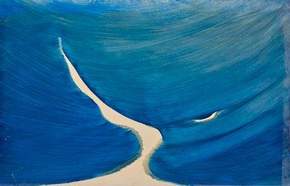 René DUVILLIER (1919-2002)  Bleu monochrome...