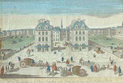 PARIS  132e Vue perspective de la Place Dauphine...