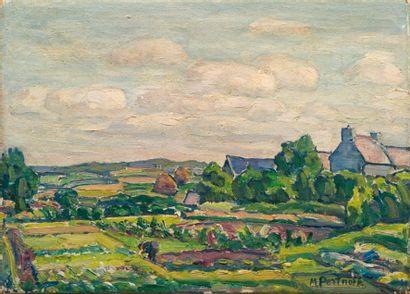 Michel PORTNOFF (1885-1978)  Paysage de Bretagne,...