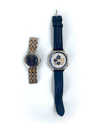 Deux montres bracelets Festina l'une en acier water resist quartz l'autre Festina...