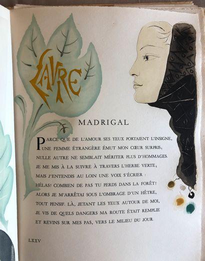 Petrarque Madrigaux Gravure par Yves Tremois