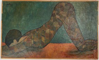 Anton SAILER (1903-1987)  Femme au costume...
