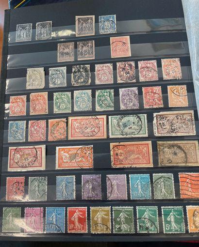 Lot de huit albums de timbres dont France, Allemagne, Belgique, Pays-Bas, Monaco,...