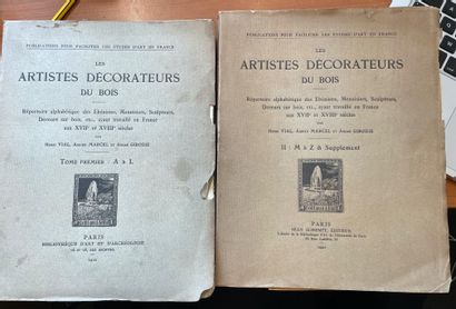 Les artistes décorateurs du bois  Deux volumes...