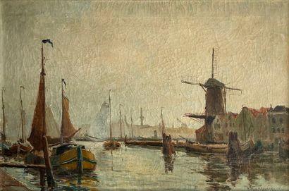 Willem HORSELENBERG (1881-1961)  Moulin au...
