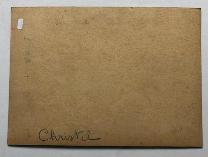 Christel  Maquette  Gouache  31,5 x 44 cm