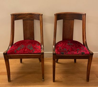 Paire de chaises gondoles  H. 83,5 cm  A...