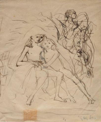 Marcel VERTES (1895-1961)  Femmes  Croquis...