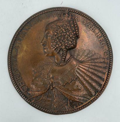 Médaille de Christine de France par Abraham...