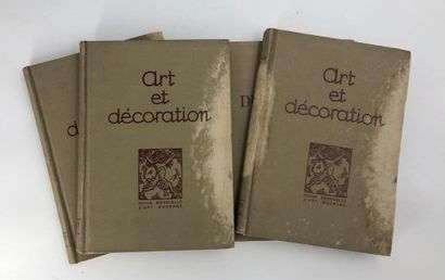 14 volumes Art et Décoration entre 1923 et 1930  En l'état