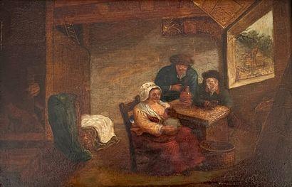 Dans le goût de l'école Flamande, du XVIIe...