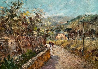 Attilio PRATELLA (1856-1949)  La promenade...