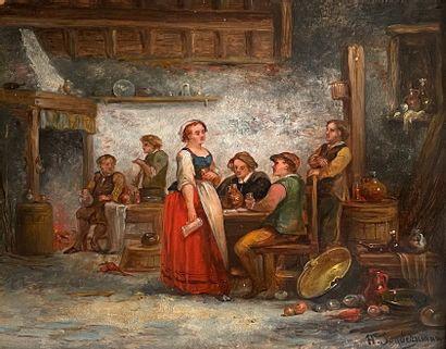 Hermann SONDERMANN (1832-1901)  Scène de...